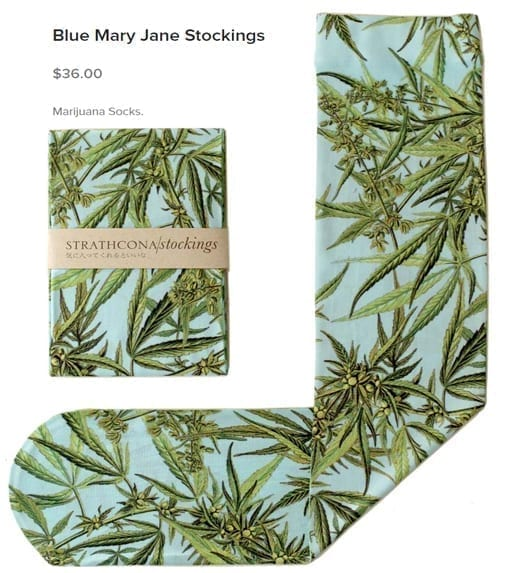weed leaf stockings