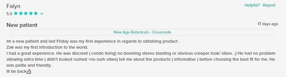 New Age Botanicals Customer Review