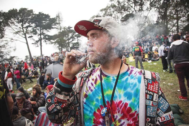 Golden Gate Park's annual 4/20 'Hippie Hill' gathering