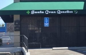 Storefront Of The Best Marijuana Dispensary In San Jose, Santa Cruz Genetics