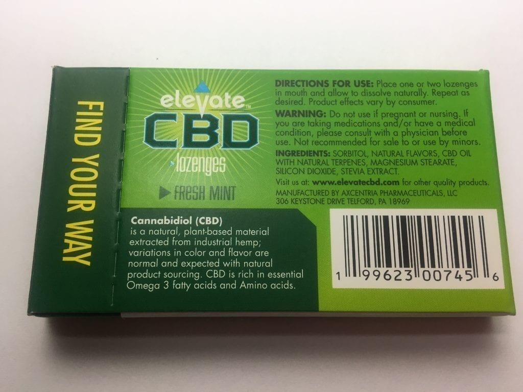 elevate cbd gum ingredients