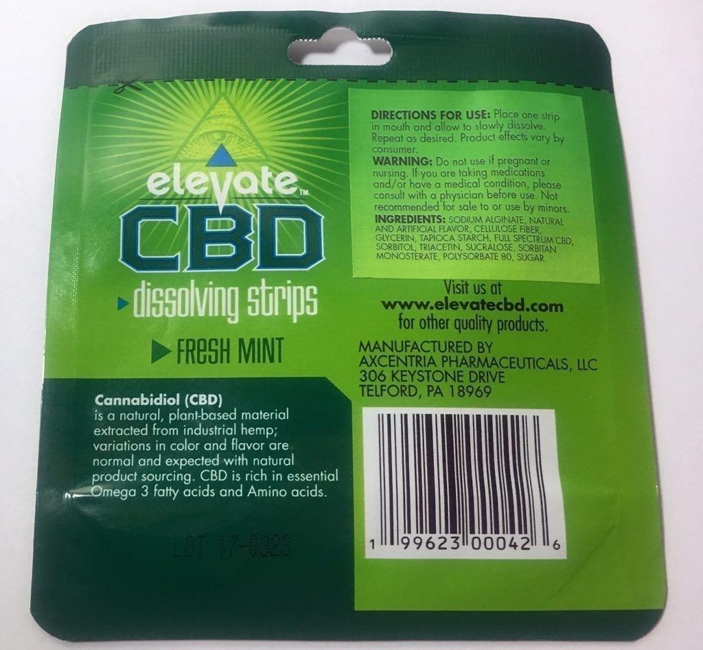 elevate cbd strips