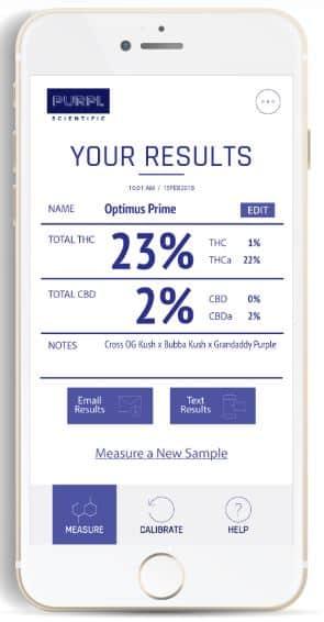 purpl pro purpl scientific smarthpone app