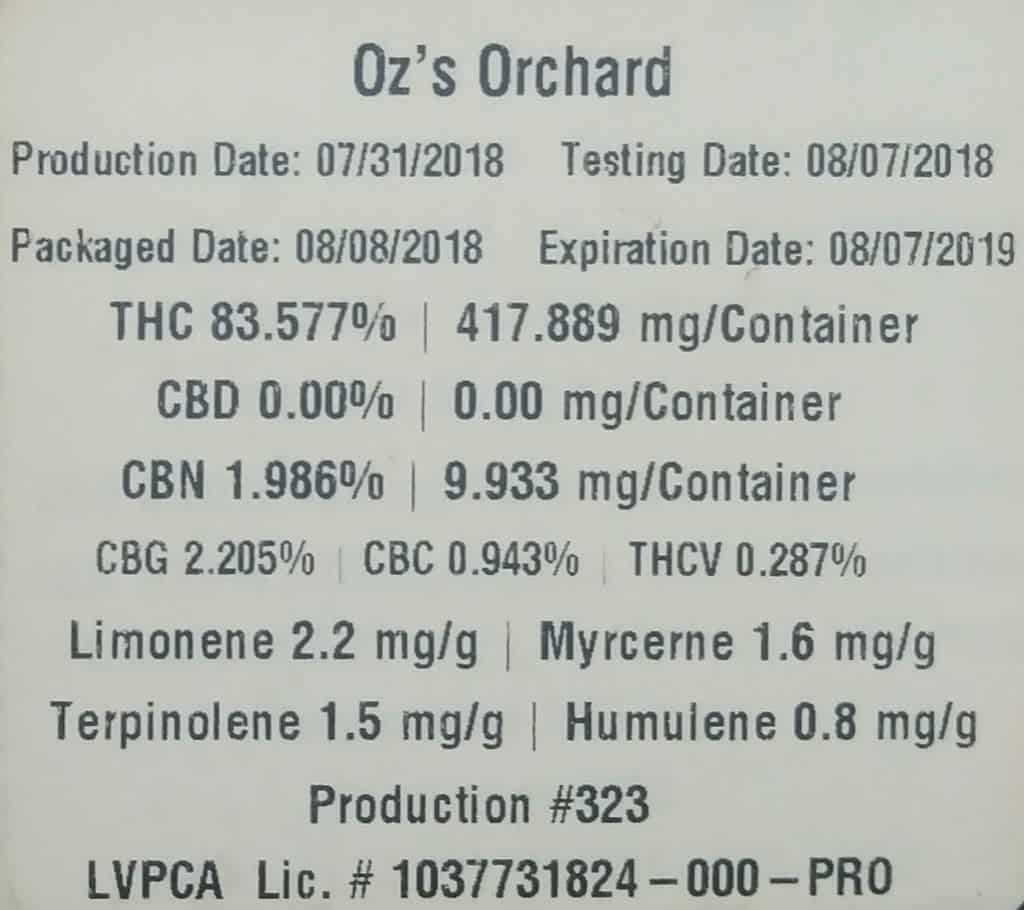 airo pro ozs orchard test results