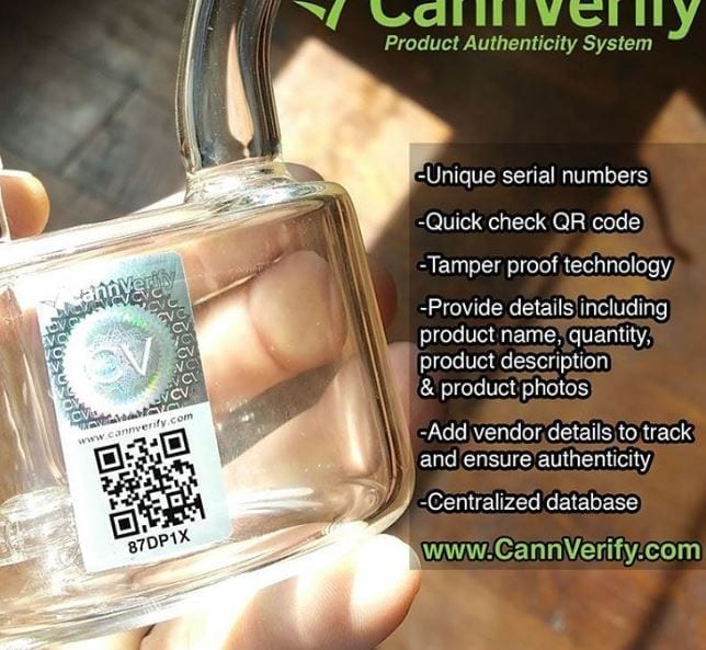 cannverify hand blown glass serial number