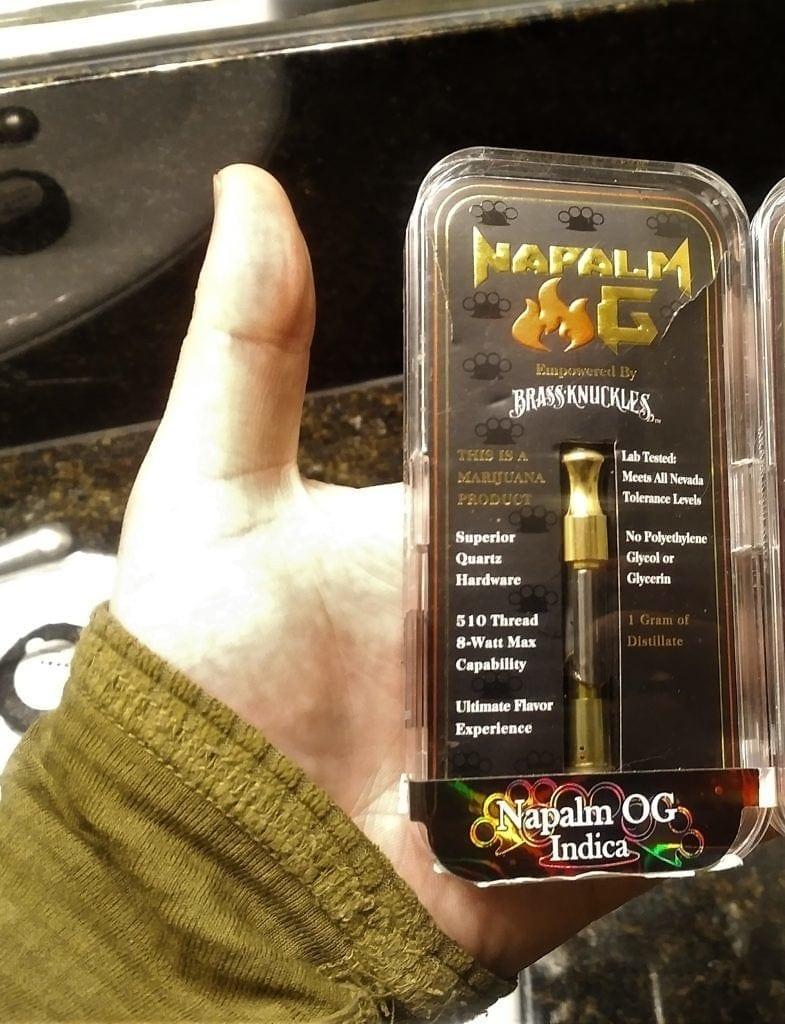 brass knuckles napalm og cannabis cartridge