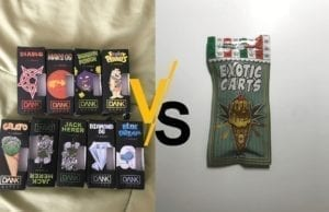 dank vapes vs exotic carts