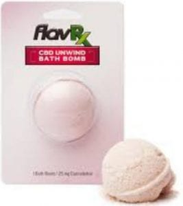 FlavRX bath bomb packaging