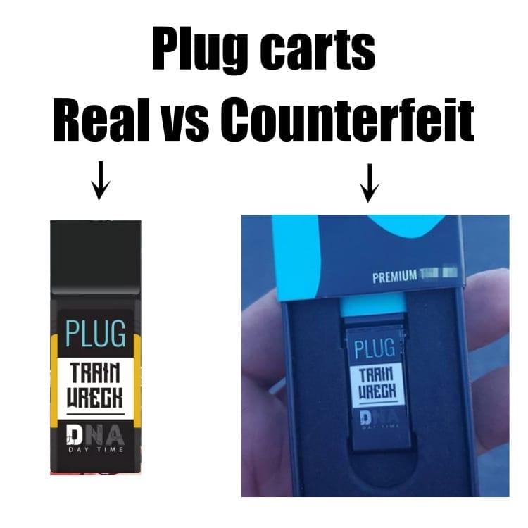 Plug cart real vs counterfeit