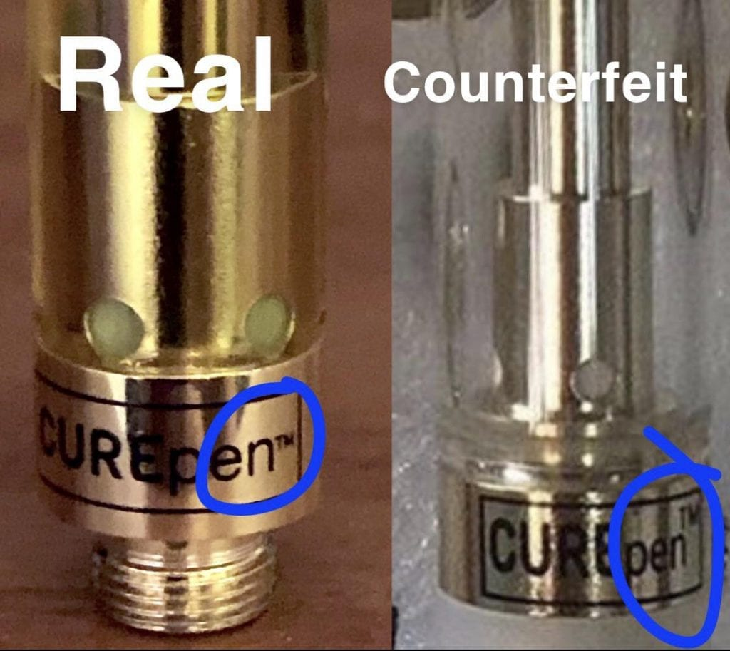 real vs counterfeit WCC cart