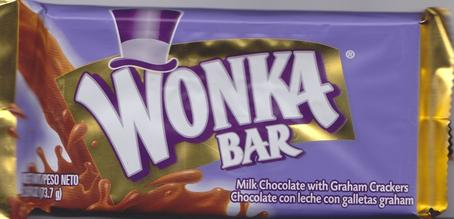 Wonka candy bar packaging