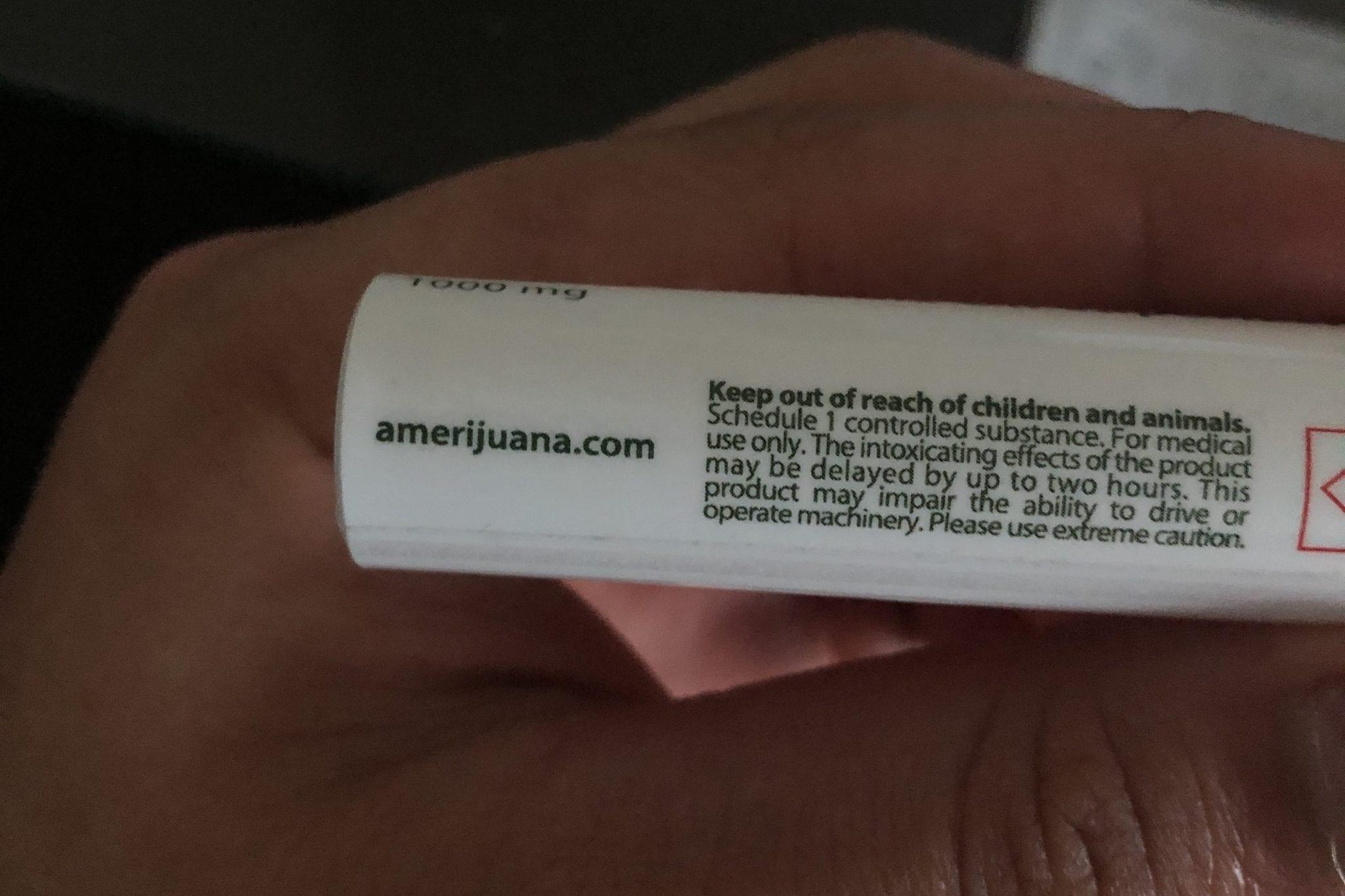 amerijuana cartridge packaging