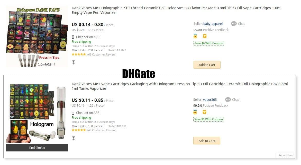 Dank packaging at DHGate