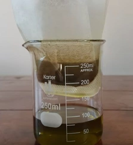 filtering TCH oil from flowers