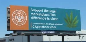 A California #weedwise billboard