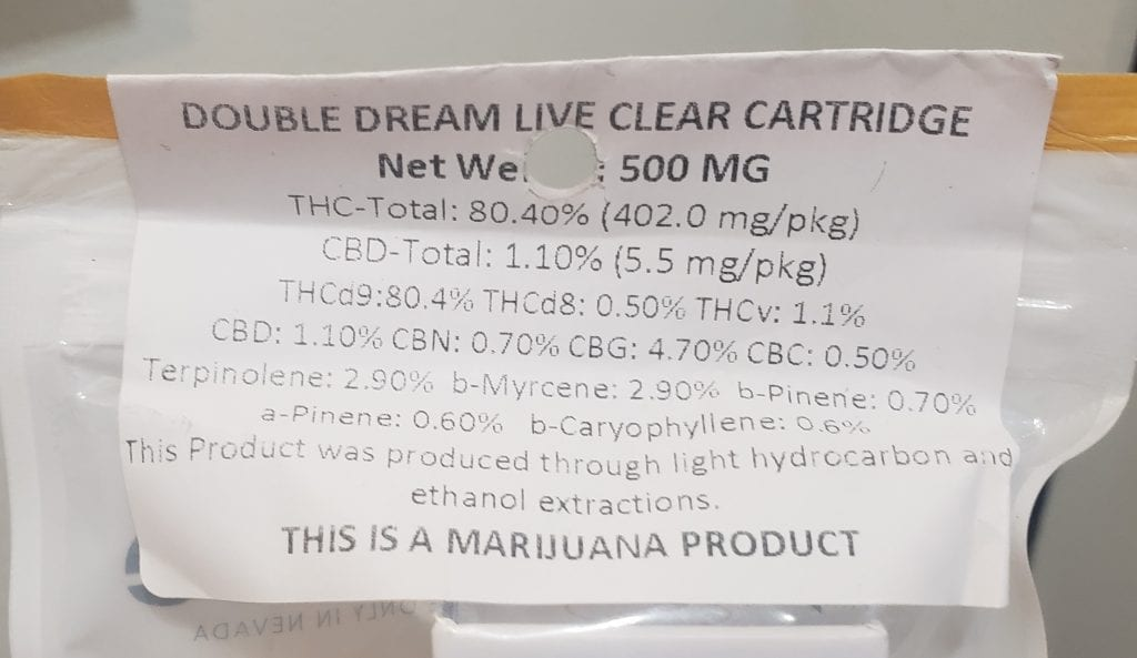 cannavative double dream live test results