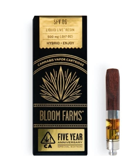 BLOOM FARMS Live Resin cart with wood tip