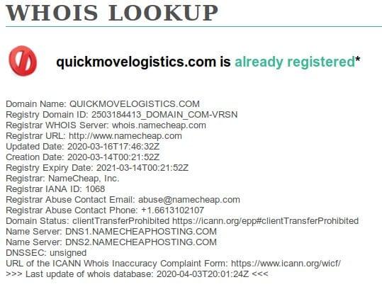 WHOIS_QuickMoveLogistics