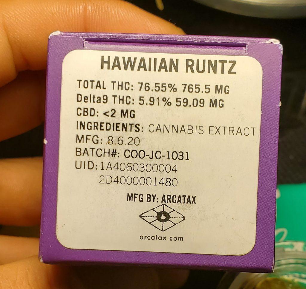 hawaiian runtz box