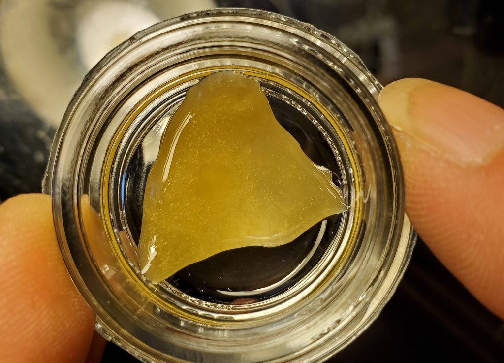 punch extracts in hand