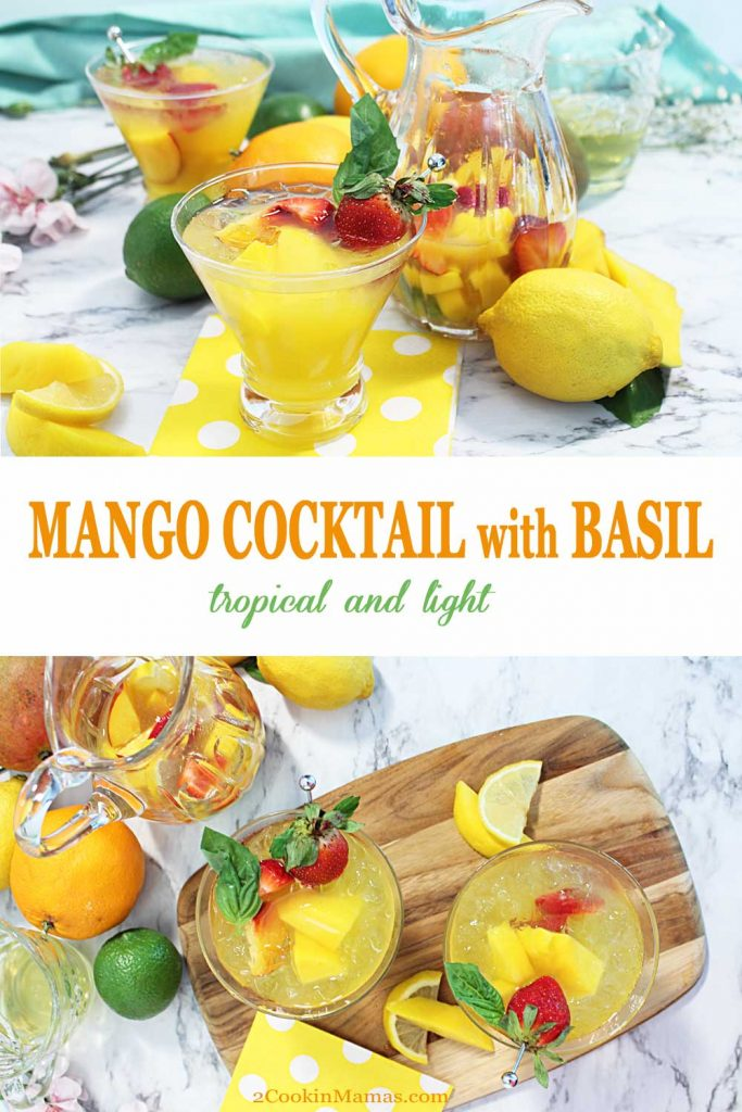 Mango-Basil-Cocktail