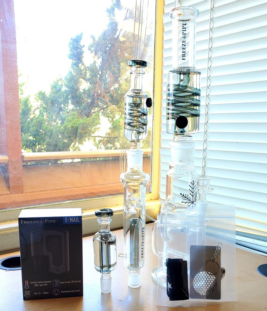 freeze pipe recycler and e nail set up