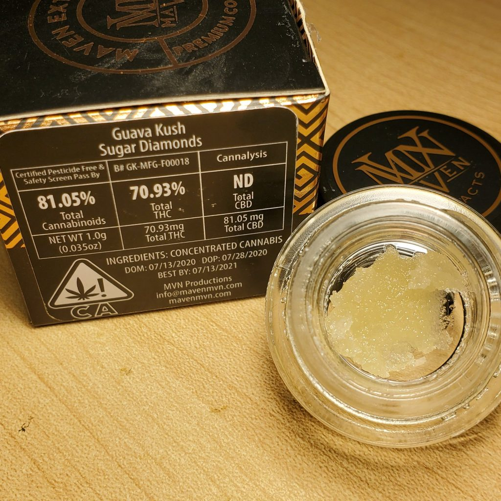 maven guava kush sugar diamonds