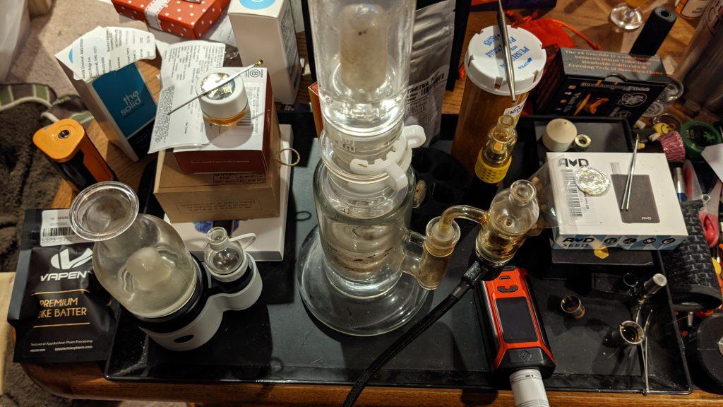vaporezer set up