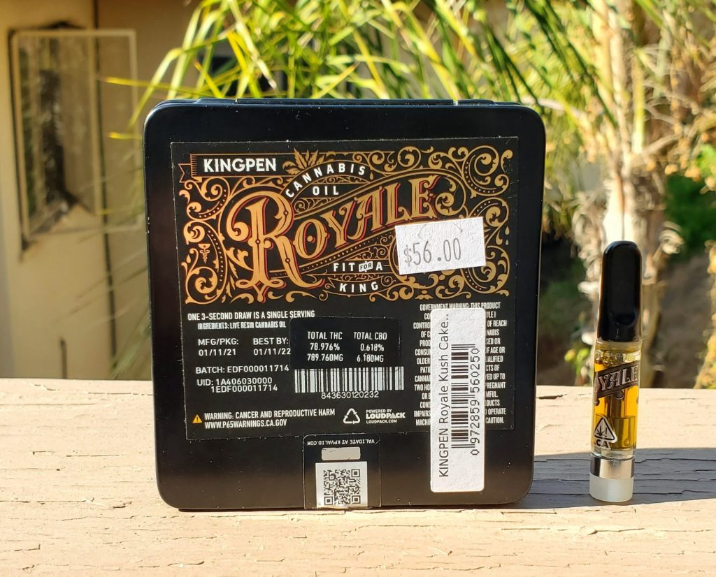 kingpen live resin back of box
