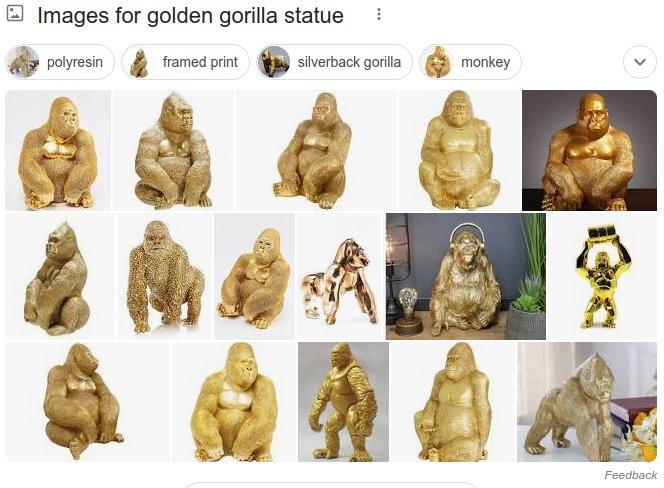 Golden-Gorilla-statues